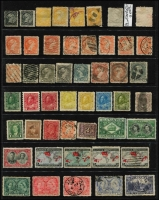 Lot 16 [1 of 4]:British Commonwealth Accumulation incl Bahamas, Canada QV-KGVI incl 1859 1c Queen, 5c Beaver (2), good range of small & large Queens to 15c (2), 1893 20c, 50c (2), 1897 Jubilee 50c, KGV defins various to 30c, few 1930s commems incl 1933 Grain Conference, range KGVI incl few booklet strips, few pre- cancels, Excise stamps, Special Delivery, registered stamps, etc. Ceylon 1903-05 30c,1r50 & 2r25 all optd 'SPECIMEN', Guernsey 1982 Postage Dues (2 sets MUH), few M/Ss, Leewards KGVI 1½d & 2d grey minor varieties, Lundy few imperf. Mixed condition throughout. (100s)