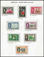 Lot 29 [2 of 5]:Fiji 1915-83 Collection almost complete from 1947 (ex 1962-67 5/- & 10/-, 1972-74 Birds & few 1974-79 Buildings). Most are MUH incl 1948 Wedding. Also small used group of KGVI issues to Pict 5/-. Retail approx A$500. (400+ & 4 M/Ss)