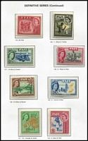 Lot 29 [1 of 5]:Fiji 1915-83 Collection almost complete from 1947 (ex 1962-67 5/- & 10/-, 1972-74 Birds & few 1974-79 Buildings). Most are MUH incl 1948 Wedding. Also small used group of KGVI issues to Pict 5/-. Retail approx A$500. (400+ & 4 M/Ss)