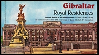 Lot 22 [2 of 3]:Gibraltar - Booklets 1974 UPU (5), 1975 Michelangelo (3), 1978 Royal Residences (27), 1981 50p (3), £1, plus many 1987 'mini' 10p, 20p, 30p & 50p booklets with loose stamps as issued. (100+)