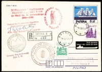 Lot 39 [2 of 6]:Maritime Covers 1930s-70s strength in Poland with ships' cachets incl M/S 'Koral', M/S 'Jantar', M/S 'Batory', S/Y 'Hetman', S/Y 'Opty', S/Y 'Pogoria', S/S 'Dar Pomorza', etc, also 1963 green (2) or brown (2) WROCŁAW imperf & perf 'Sport' sheetlets. (75+ items)