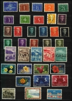 Lot 64 [3 of 4]:Netherlands Colonies Collection in stockbook incl Netherlands Antilles 1955 Child Welfare Flowers (5), Curaçao 1892-96 25c orange brown MLH, 1923 Silver Jubilee 5g, MLH, 1929 Airs opts (3), Netherlands Indies 1860s-1948 incl 1864 10c carmine, later Williams to 2g.50 (fault), range later issues, als few Netherlands New Guinea. Mixed condition (100s)