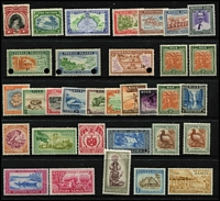 Lot 66 [1 of 2]:Pacific Collection incl Cook Islands 1944-46 Pict 3/-, 1961 Pict 3d wmk S/ways, Niue 1944-46 2/- (2 blocks of 4), 1950 Picts, Samoa 1939 NZ Control (5 sets incl blocks of 4), 1952 Picts (11, incl extra 5d), etc. Cat £180+. (90)