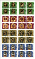 Lot 73 [1 of 5]:Switzerland 1967-83 Pro Patria Issues (ex 1978 & 1980) affixed to registered cards from 'Zumstein & Cie, Bern', many cards with 6 or 7 sets (some have more), all CTO and generally in fine condition. Several cards have violet 'CLEARED THROUGH CUSTOMS' handstamp. Cat £4,800+. HEAVY LOT. 5.6kg. (100s)