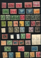 Lot 59 [3 of 4]:USA 1860s-1990s Collection in two 64 page stockbooks with range of earlies, 1893 Columbian 1c to $1, $4, 1898 Trans-Mississippi 1c to 5c, 8c, 10c, later defins to $5 Marshall, 1918 & 1923 Airs, numerous later issues, commems, defins, coils, etc, the odd few MUH (incl 1976 Interphil Sheets). The condition of the early issues is extremely mixed. (100s)