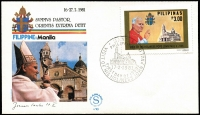 Lot 85 [3 of 5]:Vatican 1977-2005 Papal Visits with selection of unaddressed commem covers and cards relating to visits to Belgium, Canada, Ecuador, Guatemala, Kenya, Peru, Switzerland, Togo, Venezuala, etc, plus a selection of stamps related to some of the visits and many PPC packs from the Vatican and 2 sets of 1984-85 Pope Paul II's Journeys (3rd series) on cards or FDCs. (100s)