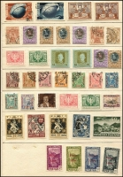 Lot 62 [1 of 7]:World On leaves with nothing recent incl Albania incl 1925 Postage Dues (4), few 1925 Opts, 1946 Red Cross Congress 30q+15q, 40q+20q, Belgium, Croatia, Curacao, Iraq, Italy, Mozambique range of 'REPUBLICA' opts, Persia, Romania range of earlies, 1906 40 Years (10), Russia few imperf issues. Generally fine. (100s)