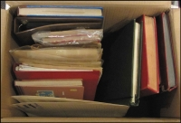 Lot 89 [3 of 3]:World in large carton incl 11 albums, nunerous folders, good Aust, GB, Sudan, etc. Mixed condition. HEAVY LOT. 13kg+. (1,000s)
