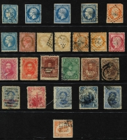 Lot 66 [2 of 4]:World Accumulation incl Bulgaria, Chile, France 1850s-70s few Napoléon imperf 20c, perf Ceres various to 80c, Hawaii, Honduras, Italy & States & Colonies incl 1923 10c on 1c Surcharge inverted, Romania range of 1970s M/Ss, San Marino few Parcel stamps, Spain 1961 Velazquez M/Ss (4, all numbered, MUH), Switzerland 1882-99 15c orange-yellow (heavy cancel), USA 1918 6c Air perfin 'MET/LIFE', etc. Vert mixed condition (100s)