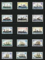 Lot 380 [2 of 4]:1953-84 Collection incl 1955-57 Picts, 1964-80 commems almost complete with Pictorials 1968, 1971, 1972, 1978-82 Ships (both sets), 1983 British Admin & 1984-86 Spiders. Cat £400+. (300+ & 12 M/Ss/sheetlets)