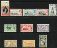 Lot 380 [1 of 4]:1953-84 Collection incl 1955-57 Picts, 1964-80 commems almost complete with Pictorials 1968, 1971, 1972, 1978-82 Ships (both sets), 1983 British Admin & 1984-86 Spiders. Cat £400+. (300+ & 12 M/Ss/sheetlets)