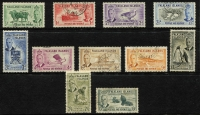 Lot 381 [3 of 3]:QV-QEII Collection Incl QV ½d, 1d & 2½d, KEVII ½d,1d, KGV various ½d to 1/-, 1918 War Stamp 1d (2), 1/- (2), 1929-37 KGV Whale/Penguins to 2/- (incl 1/- shades, ex 4d), 1933 Picts to 2d, 1935 Jubilee (2 sets), 1949 UPU (2 sets), 1952 Picts to 10/- (ex 1/3d & 5/-), also few covers incl 1937 Coronation set on registered locally addressed cover, few 1960s-80s FDCs, etc. Generally fine. (80+ & 9 covers.)