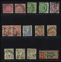 Lot 441 [2 of 3]:1875-1948 Collection on 55+ Hagners incl 1875-79 2m (2), several 'Pfennige' issues to 50p (3), many Germania 'Reichpost' & 'Deutsches Reich' issues, 1920s 'Deutches Reich' opts, many Inflation issues, incl opts, 1928-32 Ebert/Hindenberg (19), 1934 Airs 2m, 3m, 1935 Welfare Fund (10), etc. Selection of Danzig with many opts, Postage Dues, Allied Zones incl 1948 Cathedral Fund (4), French Zone incl 1945-46 Arms 10pf, Russian Zone, few Saar, etc. Generally fine condition throughout. (100s)