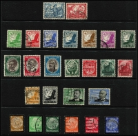 Lot 441 [3 of 3]:1875-1948 Collection on 55+ Hagners incl 1875-79 2m (2), several 'Pfennige' issues to 50p (3), many Germania 'Reichpost' & 'Deutsches Reich' issues, 1920s 'Deutches Reich' opts, many Inflation issues, incl opts, 1928-32 Ebert/Hindenberg (19), 1934 Airs 2m, 3m, 1935 Welfare Fund (10), etc. Selection of Danzig with many opts, Postage Dues, Allied Zones incl 1948 Cathedral Fund (4), French Zone incl 1945-46 Arms 10pf, Russian Zone, few Saar, etc. Generally fine condition throughout. (100s)