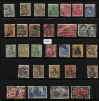 Lot 441 [1 of 3]:1875-1948 Collection on 55+ Hagners incl 1875-79 2m (2), several 'Pfennige' issues to 50p (3), many Germania 'Reichpost' & 'Deutsches Reich' issues, 1920s 'Deutches Reich' opts, many Inflation issues, incl opts, 1928-32 Ebert/Hindenberg (19), 1934 Airs 2m, 3m, 1935 Welfare Fund (10), etc. Selection of Danzig with many opts, Postage Dues, Allied Zones incl 1948 Cathedral Fund (4), French Zone incl 1945-46 Arms 10pf, Russian Zone, few Saar, etc. Generally fine condition throughout. (100s)