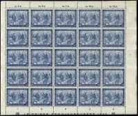 Lot 443 [2 of 2]:1941-42 Hitler 12pf scarlet-vermilion, SG 776, complete sheet of 100 with minor perf separation, 1946-48 Allied Occupation 1948 Leipzig Fair (25 sets in blocks, etc) plus additional 50pf (75), Hanover Trade Fair (250 sets in blocks). Cat £475+. (725)