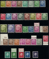 Lot 447 [2 of 2]:1950-55 Collection incl 1951 Bach (2, plus additional 10pf) used, 1951-52 Posthorn 20pf, 30pf & 90pf (MLH), 1951 Röntgen (2), 1952 Museum, Youth Hostel (2), Telephone Service, 1953 Liebig, 1955 Schiller, etc, all MLH. Also 1954 Heuss to 3DM (ex 25pf) some issues MUH, & 1959 Heuss (5, MUH) Cat overall approx €700+. (81)