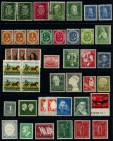 Lot 447 [1 of 2]:1950-55 Collection incl 1951 Bach (2, plus additional 10pf) used, 1951-52 Posthorn 20pf, 30pf & 90pf (MLH), 1951 Röntgen (2), 1952 Museum, Youth Hostel (2), Telephone Service, 1953 Liebig, 1955 Schiller, etc, all MLH. Also 1954 Heuss to 3DM (ex 25pf) some issues MUH, & 1959 Heuss (5, MUH) Cat overall approx €700+. (81)