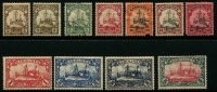 Lot 456 [1 of 4]:Yacht Selection incl Caroline Islands 1907-10 1m to 5m, China few opts, German SW Africa, Kiaochow 1905-18 40c, $1 Mariana Islands, Marshall Islands, etc. Generally fine. (100+)