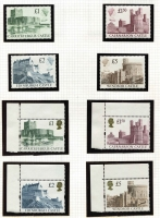 Lot 374 [1 of 4]:1967-2000 Specialised Machin Collection with numerous values identified incl 1993 24p Forgery, High value (large types) to £5, Harrison Castles to £5 (3), phosphor bands left, right & centre, 1st Class stamps (55), 2nd Class (36), some in booklets, many other booklets, incl Harrison, Questa, Walsall, some £5 & £6 Booklets have been 'exploded', others are complete, coils, many Regionals, also small selection of pre-decimal Machins. Face vale far in excess of £200. (100s)