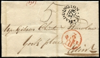 Lot 387 [2 of 4]:1778-1876 Range of entires/part entires incl 1778 (2) to Glasgow with Bishop Marks or straight line 'PAISLY' handstamp, 1792 3 ring 'FREE' Frank to London, 1830 entire Edinburgh to Leith (b/s) with 2 line 'INDIA/STREET' handstamp on reverse, 1832 2 line 'DUNDAS/STREET' on entire, 1840 Edinburgh 'PAID' cds on local part entire, etc, 1843 part entire to Edinburgh with 4 margin 1d red tied by black M/C, plus 1875-76 covers (4, incl 2 Mourning) with GB 1873-80 6d Pl.13, Pl.14 or Pl.15 to Torquay (with arrival cds) in Tasmania. 1881 OHMS blue envelope from 'Crown Office/Scotland' used in Edinburgh.  Mixed condition. (17 items)