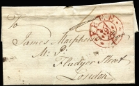 Lot 387 [1 of 4]:1778-1876 Range of entires/part entires incl 1778 (2) to Glasgow with Bishop Marks or straight line 'PAISLY' handstamp, 1792 3 ring 'FREE' Frank to London, 1830 entire Edinburgh to Leith (b/s) with 2 line 'INDIA/STREET' handstamp on reverse, 1832 2 line 'DUNDAS/STREET' on entire, 1840 Edinburgh 'PAID' cds on local part entire, etc, 1843 part entire to Edinburgh with 4 margin 1d red tied by black M/C, plus 1875-76 covers (4, incl 2 Mourning) with GB 1873-80 6d Pl.13, Pl.14 or Pl.15 to Torquay (with arrival cds) in Tasmania. 1881 OHMS blue envelope from 'Crown Office/Scotland' used in Edinburgh.  Mixed condition. (17 items)