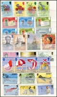 Lot 391 [2 of 3]:Jersey 1969-2000s Collection incl many commems & defins, various 'Minimum Postage' issues also Europa sheetlets from 1978 (3-20 sets) & 1979 (2-10 sets), 1979 Air Rally sheets (5-20 sets) CTO. (100s)
