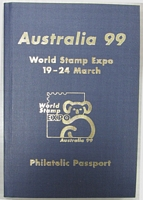 Lot 118 [2 of 3]:World 0.40kg+ off-paper with strength in Netherlands defins & Spain. Also 'Australia '99' Philatelic Passport (all 'countries' appear to have been visited with the Inter Governmental Philatelic Agency entries showing 'MELBORNE' error in postmark. - Passport not included in weight) (100s)