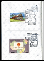 Lot 118 [3 of 3]:World 0.40kg+ off-paper with strength in Netherlands defins & Spain. Also 'Australia '99' Philatelic Passport (all 'countries' appear to have been visited with the Inter Governmental Philatelic Agency entries showing 'MELBORNE' error in postmark. - Passport not included in weight) (100s)