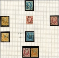 Lot 1598 [2 of 6]:1850s-1970s Collection in 2 albums incl 1852-63 5c, 10c, 1864 5c, 10c (2), 15c (3), 1867-69 5c to 50c (2, one used), 1872-91 2g.50, 1891-94 10c,15c (both mint), 1893-98 1g (2, one used), 1899-1910 1g, 1906 TB with 'remainder cancels' (3), 1913 Independence 2½c to 10g (ex 2½g), 1927 Red Cross (2 sets, one mint), 1940-47 to 60c (plus 5c, 10c, 12½c & 15c imperf 'non-official productions), 1946 1g to 10g, 1947-48 Queens (16), 1950 & 51 Cultural & Social Relief, 1950 Bombed Churches, 1951 Airs (2), 1952 Utrecht 'ITEP', issues from 1964 MUH incl 1967 Amphilex sheetlets (3). Mixed condition on earlies. Very high catalogue value. (100s)