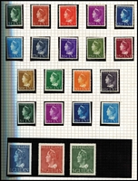 Lot 1598 [3 of 6]:1850s-1970s Collection in 2 albums incl 1852-63 5c, 10c, 1864 5c, 10c (2), 15c (3), 1867-69 5c to 50c (2, one used), 1872-91 2g.50, 1891-94 10c,15c (both mint), 1893-98 1g (2, one used), 1899-1910 1g, 1906 TB with 'remainder cancels' (3), 1913 Independence 2½c to 10g (ex 2½g), 1927 Red Cross (2 sets, one mint), 1940-47 to 60c (plus 5c, 10c, 12½c & 15c imperf 'non-official productions), 1946 1g to 10g, 1947-48 Queens (16), 1950 & 51 Cultural & Social Relief, 1950 Bombed Churches, 1951 Airs (2), 1952 Utrecht 'ITEP', issues from 1964 MUH incl 1967 Amphilex sheetlets (3). Mixed condition on earlies. Very high catalogue value. (100s)