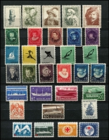 Lot 396 [3 of 4]:Collection with mint & used stamps from beginning to 1977 incl few earlies 1923 imperf 5c block of 4 & 10c pair (both MUH), various Child Welfare sets, Cultural & Social Relief Funds incl 1956 Rembrandt. Mixed condition. (100s)