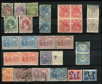 Lot 396 [1 of 4]:Collection with mint & used stamps from beginning to 1977 incl few earlies 1923 imperf 5c block of 4 & 10c pair (both MUH), various Child Welfare sets, Cultural & Social Relief Funds incl 1956 Rembrandt. Mixed condition. (100s)