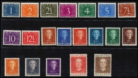 Lot 1605 [2 of 2]:1950-52 Definitives 1c to 5g. SG #1-21, Cat £160. (21)