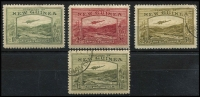 Lot 1339 [2 of 3]:1939 Bulolo Airs ½d to £1 set, (½d to 2/- MLH [6d with thin]), 5/-, 10/- (stain), £1 used. SG #212-25, Cat £1,000+. (14)