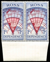 Lot 1743 [3 of 4]:Ross Dependency 1967 Pictorials in marginal pairs. Main Xref5-8. Retail A$170. (8)