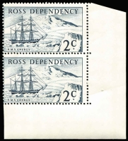 Lot 483 [1 of 4]:Ross Dependency 1967 Pictorials in marginal pairs. Retail A$170. (8)