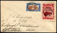 Lot 1626:1907 (Mar 5) Cover with Christchurch Exhibition 3d stamp tied by 'Exhibition' cds (with Broken 1st 'C' in CHRISTCHURCH' [see Lancaster 'Exhibit Yourself' * page P51]) re-addressed to Sydney with Kiwi label No. 3 cancelled on arrival in Sydney (May 21). [* Available from us at $60 incl postage within Australia]