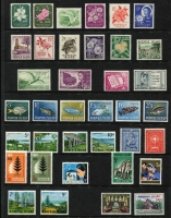 Lot 354 [2 of 5]:1947-2013 Collection on 55+ Hagners almost complete (ex 1997 Beef Hong Kong M/S, and few others) incl many M/Ss, booklets, gutters blocks, se-tenant strips or pairs, etc. Also few FDCs. Generally fine. (100s & M/Ss & booklets)