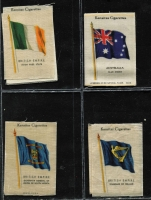 Lot 118 [3 of 3]:Cigarette Cards: Player & Sons 'Kings & Queens of England' (46 of 50), Major Drapkin 'Limericks' (30 of 50), De Reszke sepia 'Animals' (16 of 27) Kensitas 'British Empire Flags' (26 'silk' of 60). Generally fine. (118)