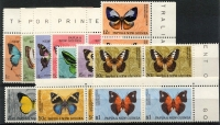 Lot 418 [2 of 2]:1966-67 Butterflies 2 sets in marginal pairs. Main Xref82-92 (24)