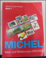 Lot 125:Michel Europe Catalogues: 2002-03 Vols 1-4. (Vol 1) West & Middle Europe 1,480+pp, (Vol 2) Southern Europe (1,700+pp), (Vol 3) North & North-west Europe 1680pp, (Vol 4) Eastern Europe 1,750+pp. Generally fine. (6,600+ pp). HEAVY LOT.