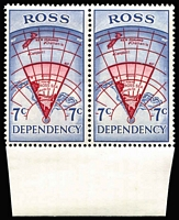 Lot 497 [3 of 4]:Ross Dependency 1967 Pictorials in marginal pairs. Main Xref5-8. Retail A$170. (8)