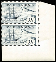 Lot 497 [1 of 4]:Ross Dependency 1967 Pictorials in marginal pairs. Main Xref5-8. Retail A$170. (8)