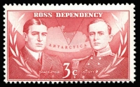 Lot 47:Ross Dependency 1967 Pictorials 3c carmine-red watermark inverted.