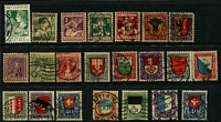 Lot 499 [1 of 2]:1914-22 Pro Juventute Collection incl 1916 & 1917 sets. Mixed condition. Cat £500+. (34)