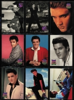 Lot 79 [3 of 3]:Elvis Presley: The Elvis Collection of cards representing Elvis in 'Early Days', 'Army Days', 'Movies', 'Graceland Tour', 'Wertheimer Collection', 'Portraits', 'Comeback Special', 'Wheels', 'Aloha Special', etc. Very little duplication. HEAVY LOT. Approx 3.7kg. (900+)