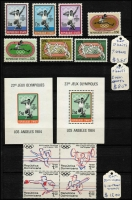 Lot 86 [3 of 3]:Olympics 1984: Los Angeles Collection in small 32 page KA-BE album with numerous countries represented with sets, M/Ss, sheetlets, etc. Retail stated to be A$400+. (100s)