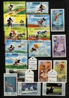 Lot 87 [2 of 3]:Olympics 1984: Los Angeles Collection in small 32 page KA-BE album with numerous countries represented with sets, M/Ss, sheetlets, also several issues for Sarajevo Winter Olympics. Retail stated to be A$400+. (200+ & 40+ M/Ss/sheetlets)