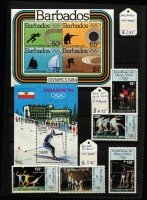 Lot 87 [1 of 3]:Olympics 1984: Los Angeles Collection in small 32 page KA-BE album with numerous countries represented with sets, M/Ss, sheetlets, also several issues for Sarajevo Winter Olympics. Retail stated to be A$400+. (200+ & 40+ M/Ss/sheetlets)